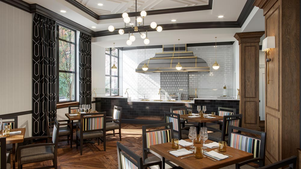 assisted living bistro dining room