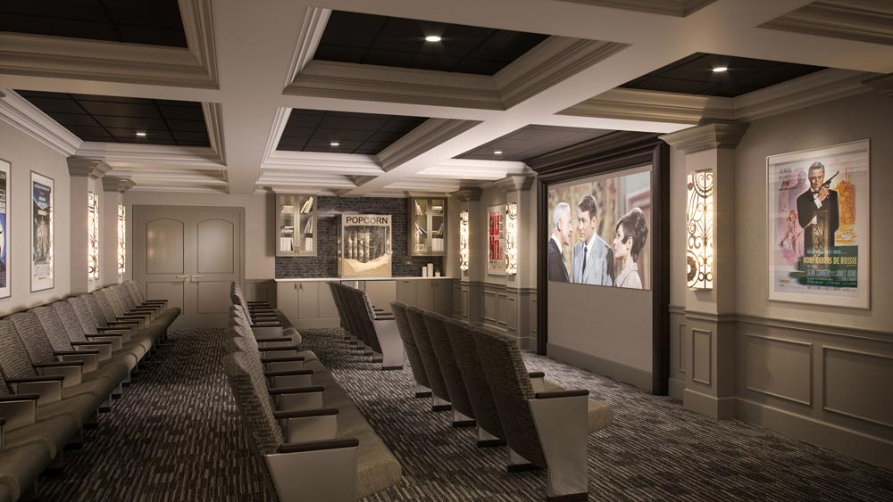 assisted living cinema room