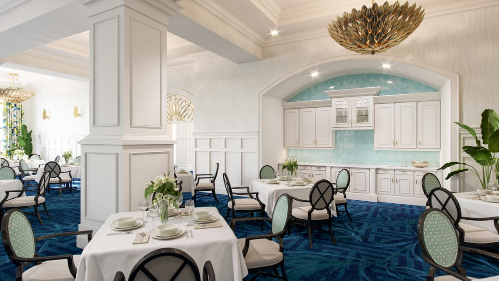 assisted living formal dining room