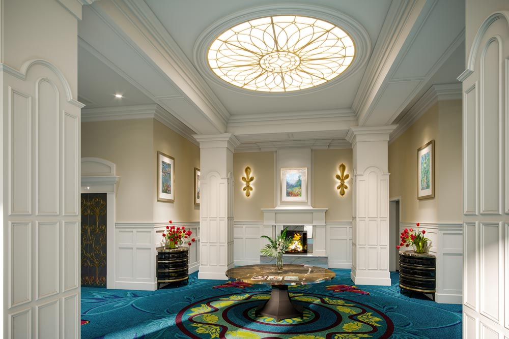 assisted living front entrance room